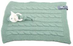 Groene Baby's Only Speendoekje Kabel Uni Mint