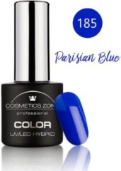 Blauwe Cosmetics Zone UV/LED Hybrid Gel Nagellak 7ml. Parisian Blue 185