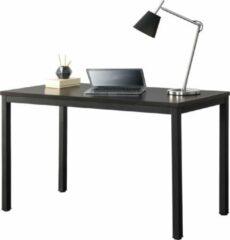 En.casa Bureau laptoptafel 120x60x75 cm Odense zwart en walnoot