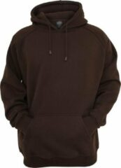 Urban classics Heren hoodie extra dik en zacht Blank Hoody bruin