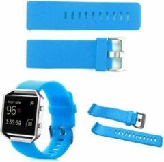 Lichtblauwe NedRo TPU Siliconen armband voor Fitbit Blaze Licht blauw maat L (21 cm)