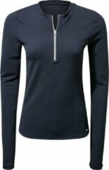 Marineblauwe Craghoppers - UV Zwemshirt voor dames - Longsleeve - Cordelia Rash Vest - Navy - maat XXS (34)