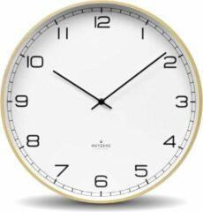 Beige Huygens - Wood 35 Arabic - Wit - Wandklok - Stil - Quartz uurwerk