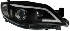 Set koplampen DRL-Look passend voor 'Light-Bar' Subaru Impreza 2008-2014 - Zwart