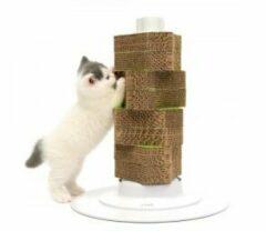 Bruine Catit Design Cat-It Senses 2.0 Scratcher - Krabpaal - Wit - 15 x 43,5 x 60 cm