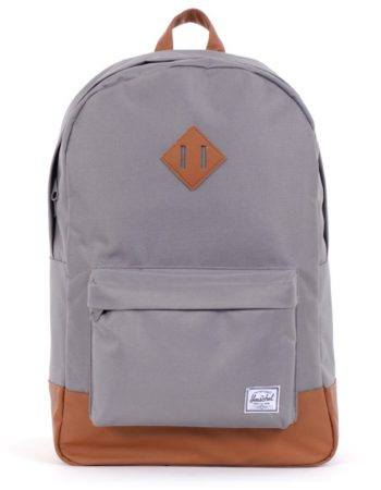 Afbeelding van Grijze Herschel Supply Co. Heritage Rugzak grey / tan synthetic leather