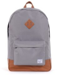 Grijze Herschel Supply Co. Heritage Rugzak grey / tan synthetic leather