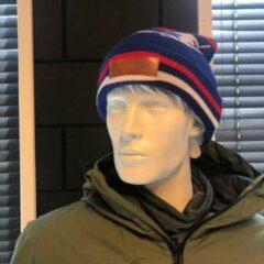 Rode Après ski muts Apres Ski Muts - Blauw - Wintersport muts - Unisex - One Size fits all - Wintermuts - Skimuts - Snowboardmuts - Bergen - Sneeuw muts - design muts - Poeder muts