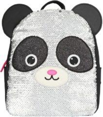 Zilveren SNUKIS Dagrugzak Panda met Strijkpailletten