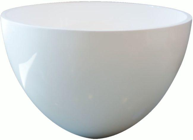 Afbeelding van Douche Concurrent Waskom Opbouw Eco Rond 42x42x26cm Solid Surface Mat Wit