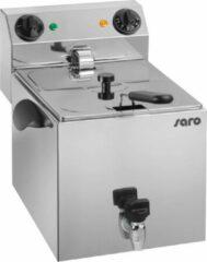 Roestvrijstalen SARO Fritteuse met tapkraan - 10 liter - uitneembaar element - 2 jaar garantie - Professioneel model PROFRI 10