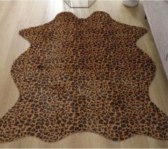 Merkloos / Sans marque Vloerkleed luipaard tijger print - 75x110 cm - Dierenvel tijgervel luipaardhuid Vloerkleed tapijt