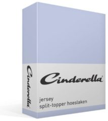 Elegance Cinderella Splittopper Hoeslaken Jersey Katoen Stretch Single Split - sky blue 140x200/210cm