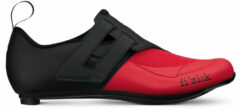 Zwarte Fizik Transiro Powerstrap R4 Triathlon Schoenen, black/red Schoenmaat EU 45