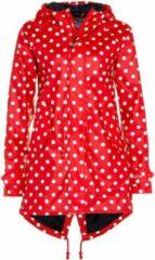 Rode dames regenjas met witte stippen / parka HafenCity® van BMS XS