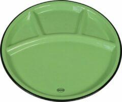 CABANAZ - bord, keramiek, FONDUE PLATE, groen