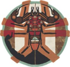 Ted Baker - Zodiac Scorpio 161805 Vloerkleed - 100 cm rond - Rond - Laagpolig, Rond Tapijt - Modern - Meerkleurig