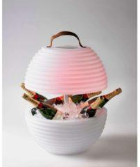 Witte Nikki.Amsterdam Nikki Amsterdam The Bowl - Wijnkoeler Bluetooth Speaker En Multi Color LED Lamp Voor Binnen En Buiten - Waterdicht
