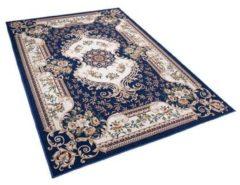 Beliani Vloerkleed donkerblauw 160 x 230 cm GAZIANTEP