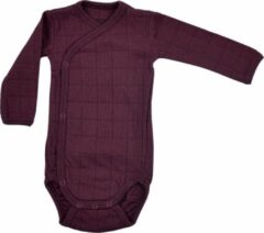 Lodger Babyromper Lange Mouw - Maat 68 - Romper Solid - 100% Katoen - Elastisch - Handige Overslag - Extra Laag Geprijsd - Unisex - Groen