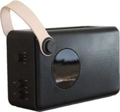 Scansonic PA4600 Portable DAB+/FM Radio met Bluetooth - Zwart