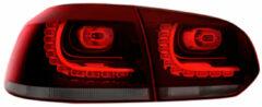 Universeel Set R-Look LED Achterlichten Volkswagen Golf VI 2008-2012 excl. Variant - Rood/Smoke