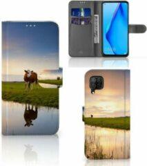 B2Ctelecom Smartphone Hoesje Huawei P40 Lite Flip Case Koe