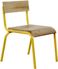 Gele Kids Depot KIDSDEPOT ORIGNIAL STOEL HOUT-METAL Yellow (SET 2 STUKS)