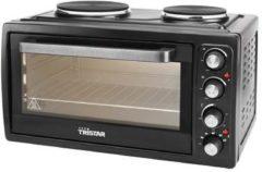 Zwarte Tristar OV-1443 - Heteluchtoven met 2 kookplaten