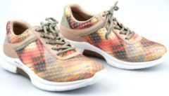 Gabor rollingsoft 46.951.63 mesh nubuck sneaker voor dames multikleur oranje - Maat 38