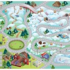 Grijze House Of Kids Speelkleed Mountain Quadri Connect 100 X 150 Cm
