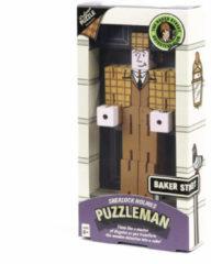 Professor Puzzle breinbreker Sherlock Puzzleman hout junior lichtbruin