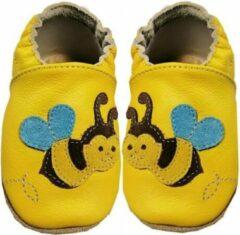 Hobea Babyslofjes geel met bij (Kruip)