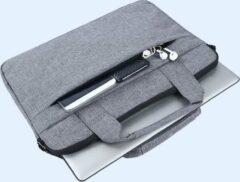 MoKo H321 Laptop Schoudertas opbergvakken 14.1 inch Notebook Tas - Hoes Multipurpose voor 14.1-14-15- 15.4 inch Laptop Dell Microsoft Acer Asus,Dynabook Tecra/Satellite Pro 14 grijs