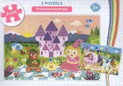 Rebo Puzzels 2x24 3+ - Prinsessenwereld - puzzel 2 x 24 stukjes