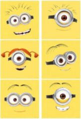 Minions Muursticker Emoticons (12 stuks)
