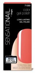 Koraalrode SensatioNail Gel Polish Coral Sunset - Gel nagellak - Oranje