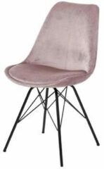 Lisomme Pien eetkamerstoel - Velvet - Metalen onderstel - Roze