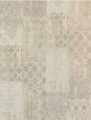 Ginore Vintage Vloerkleed Patchwork - Deco Macchiato - 170x240 Lichtbeige Tapijt