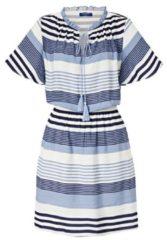 CONLEYS BLUE Kleid, mit Streifendruck, Sportiv & Casual, Kunstfaser