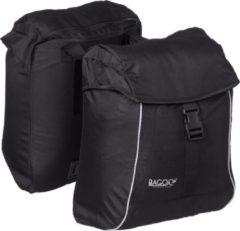 Bagoo lichtgewicht dubbele fietstas 34 liter (17x2) zwart inclusief regenhoezen