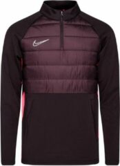 Bordeauxrode Nike Dry Academy Drill Top - Burgundy Ash/Racer Roze/Reflective Zilver - Boys Large