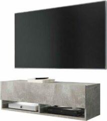 VDD Hangend TV meubel TV dressoir Wander smal model grijs beton uitstraling