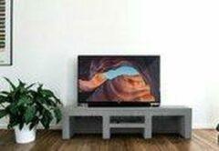 Grijze Betonlook TV-Meubel open vakken met legplank| Platinum Grey | 200x40x40 cm (LxBxH) | Betonlook Fabriek | Beton ciré