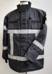 Smit & van Rijsbergen Blusparka Gore-Tex Zwart met reflectie-striping Maat S Tall/Lang