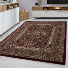 Marrakesh Laagpolig Vloerkleed - Casablanca - Rood - 80 x 150 cm - Vintage, Patchwork, Scandinavisch & meer stijlen vind je op WoonQ.nl