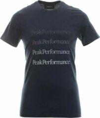 Peak Performance - Ground Tee 2 - Blauw - Heren - maat S