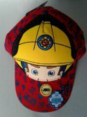 Rode Suncity Brandweerman Sam pet/cap maat 52