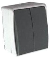 Outlight Serie Schakelaar Double switch voor buiten Pr. 4657820