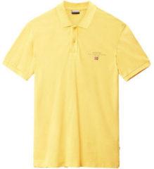 Gele Polo Shirt Korte Mouw Napapijri N0YIJ5